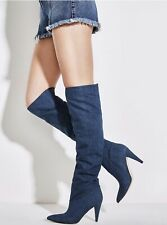 Guess Denim Slouchy Boots GWNIDIA2  Stiletto Knee High Stiletto 💕 RARE JEAN💕