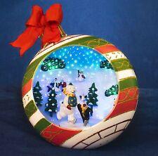 Konstsmide schlittschuhfahrende Tiere LED Fiberoptik Weihnachts Kugel