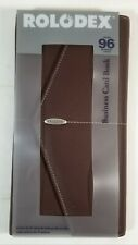 New Rolodex Padfolio Brown Business Card Holder Office Accessory Organizer Gift