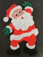 CHRISTMAS DECORATION SANTA CLAUS COLLECTIBLE DOOR GREETER Melted Plastic Popcorn