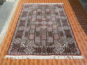 Geometric Design Decor 4'x6' Hand Knotted Silk Jaipur Multi Color Oriental Rug