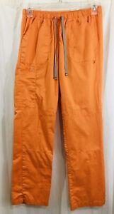 Wonder Wink Women's Orange Straight Leg Cargo Pants Size M *