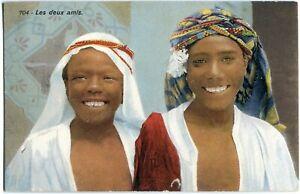 les deux amis -  marokkanische/arabische Jungen/Knaben Lehnert & Landrock 10er