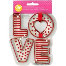 New listing Nwt Wilton Love Metal 4 Piece Cookie Cutters Valentine's Day Theme - Free Ship