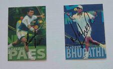 2000 ATP Tour Tennis Player Cards/LEANDER PAES & MAHESH BHUPATHI autographs