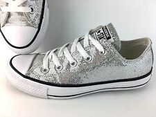 Converse All Star Women's Size 6 Silver Glitter Athletic Sneakers 135851C