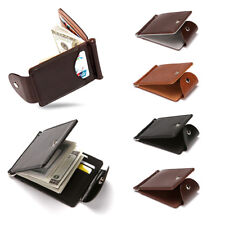 Slim Wallet Luxury Leather Money Clip Thin Credit Card ID Holder Front Pocket