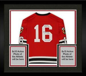 Frmd Bobby Hull Chicago Blackhawks Signed Red M&N Jersey with Multiple Inscs
