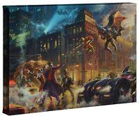 Thomas Kinkade Studios The Dark Knight Saves Gotham City 10 x 14 Wrap Canvas
