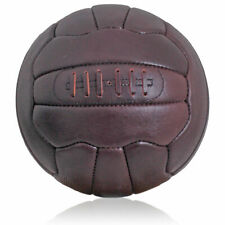 New Vintage Leather Football size 5 ball Retro style 18 panel hand stitched FT03