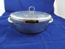 B W Buenilum Hammered Aluminum Covered Dish w/ Pyrex 626 Insert Pre WWII