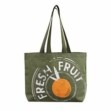 Reusable Grocery Bag Shopping Tote Extra Large Heavy Duty 12 oz Cotton Canvas Mu