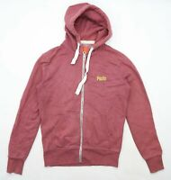Superdry Womens Size M Cotton Blend Pink Hoodie (Regular)