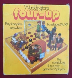 Vintage Waddingtons Four-Up Board Game. 1979 Four in A Row. Retro