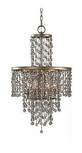 Valka 6 Light Crystal Chandelier Light Fixture by Uttermost #21288