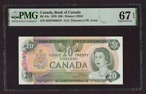 Canada 🇨🇦 1979 - $20 Thiessen/Crow - PMG Superb Gem UNC 67 EPQ