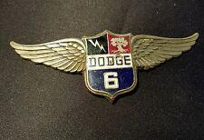 1928 1929 DODGE BROTHERS VICTORY 6 SIX EMBLEM MASCOT NAME PLATE MOPAR CHRYSLER