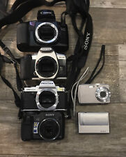 Lot Of Six (6) Cameras Slr + Digital Point & Shoot - Canon Sony Pentax Polaroid