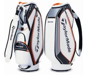 "TaylorMade 2021 SPORT MODERN Men's Golf Caddie Bag 9.5"" PU 5Way 7Lbs Ems / White"