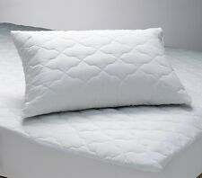 2 Quilted Zipper Pillow Protectors Poly/Cotton Standard Queen King MADE IN USA