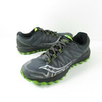Saucony Peregrine 7 Men's Size 9 Gry/Blk/Lim Trail Running Shoes S20359-2