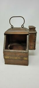 u.s navel ww11 era copper compass lantern box with reflector