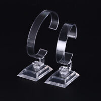 1pc clear plastic wrist watch display rack holder sale show case stand tool YR