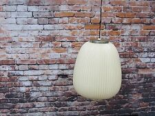 Vintage Mid Century Modern Large White Hanging Pendant Bubble Lamp Light