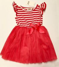 NEW BQT Girls RUBY RED Tutu Dress Party Princess Outfit Size 1 Year Child Baby