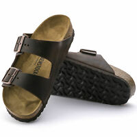 NEW BIRKENSTOCK MENS ARIZONA REGULAR WIDTH SANDAL TOBACCO LEATHER STRAPS 352201