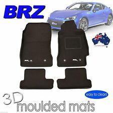 To suit Subaru BRZ 2012 - 2018 - 3D Rubber Car Floor Mats - MANUAL Transmisson