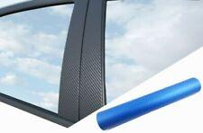 6 x Premium a B C Montante Porta Listelli Diapositiva di Auto Carbonio Blu