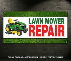 LAWN MOWER REPAIR Business Advertising Vinyl Banner Sign