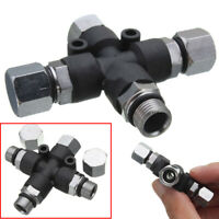 """3 Way Airbrush Nail Tattoo Painting Air Splitter Fitting Connector Spray 1/8"""""""