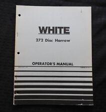 GENUINE WHITE FARM EQUIPMENT WFE 272 DISC HARROW OPERATORS MANUAL VERY NICE