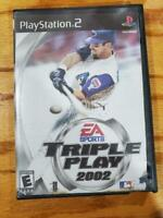 Triple Play 2002 PS2 PlayStation 2 Complete VG