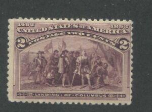 1893 US Stamp #231 2c Mint F/VF Broken Hat Variation Catalogue Value $160
