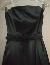 White House Black Market Shiny Strapless Party Dress + Crinoline Slip Sz 4 EC!