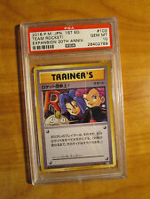 Psa-10 Pokemon Here Comes Team Rocket! Card Cp6 Expansion Pack 103/087 Set 20th
