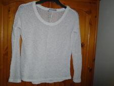Winter white lightweight long sleeve popcorn jumper, ATMOSPHERE, size 6