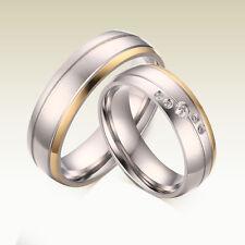 1 Partnerring M/W Trauring Hochzeit Verlobung Ehe Ring Edelstahl Gravur GPR033-2