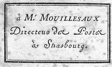 EX-LIBRIS de MOUILLESAUX. Strasbourg.