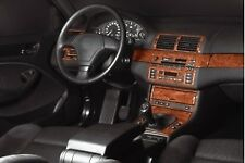 BMW 3 Series E46 Interior Dash Trim Kit 3M 3D 25-Parts Burl Wood 1997-2006