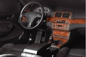 BMW 3 Series E46 Interior Dash Trim Kit 3M 3D 25-Parts Burl Wood 1997-2006 RHD