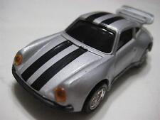 Mc Toy (Macau) Silver w/ Black Stripes Porsche 930 Diecast Friction 1:48