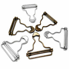 Dungaree Fasteners Clip Brace Buckles in Silver or Antique Bronze