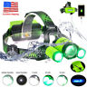 BORUiT XM-L L2 GREEN LED Hunting Headlamp RECHARGE Mirco USB Headlight Zoomable