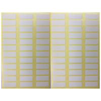 720 Etiketten 20 x 8mm weiß selbstklebend - Tiefkühl Gefrier Klebeetiketten Büro