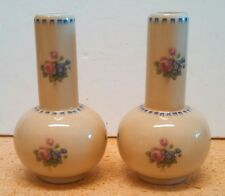 Set of 2 Hand Painted Limoges Vases - Mini, Floral