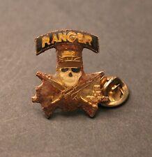 Ranger - Teschio con cappello militare tra due fucili - Molto antica